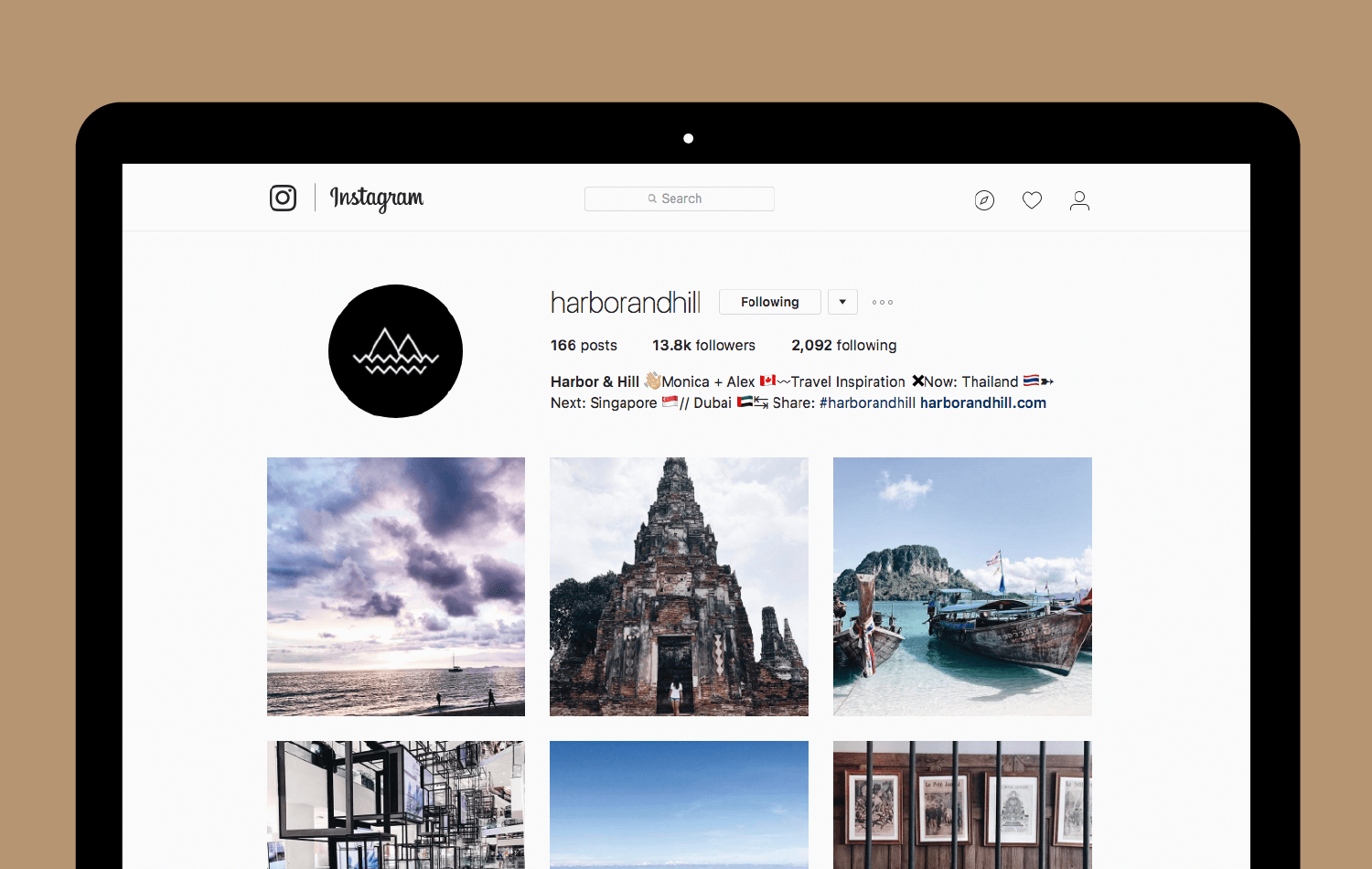 Harbor & Hill Instagram account