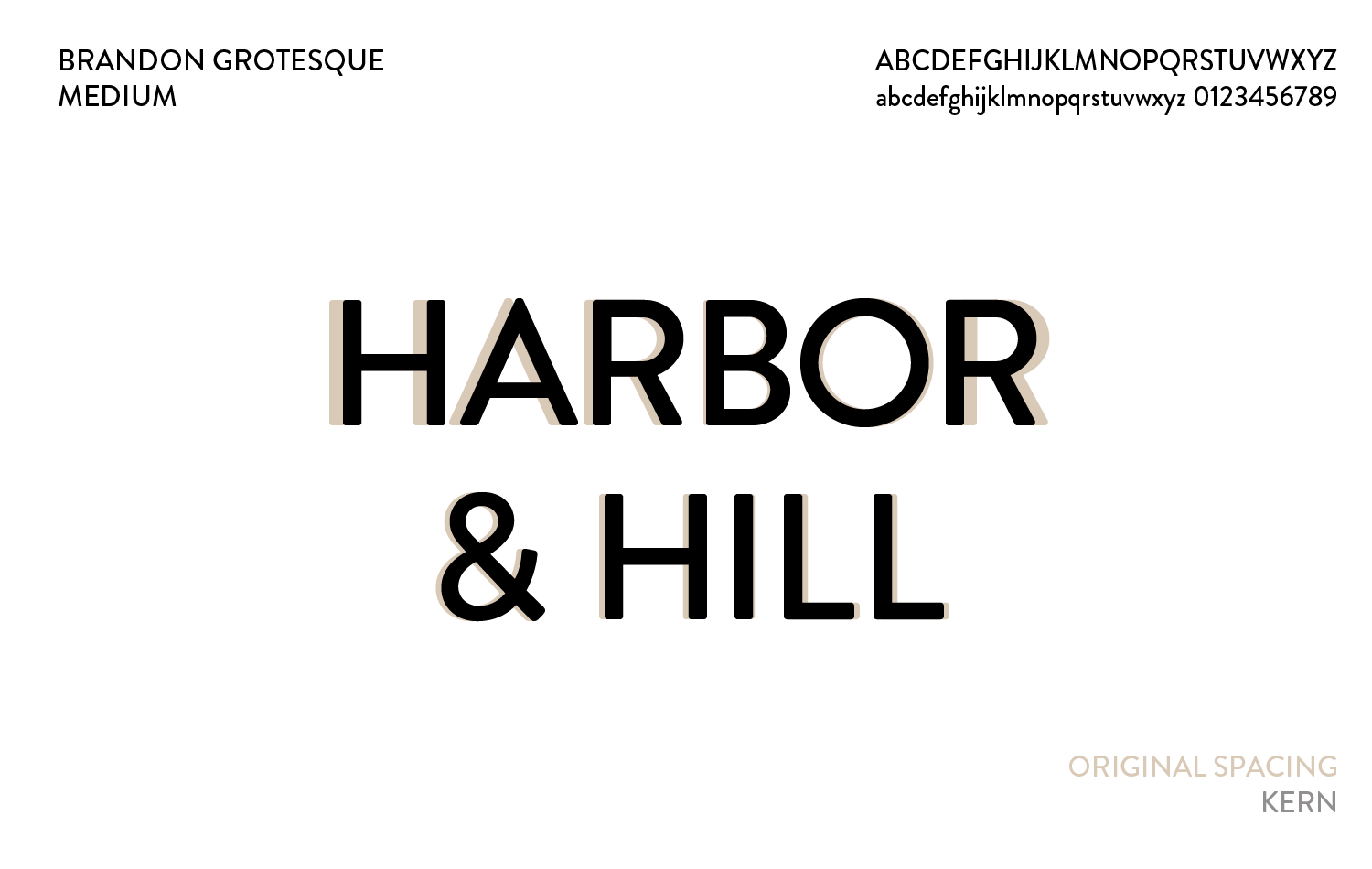 Harbor & Hill typography