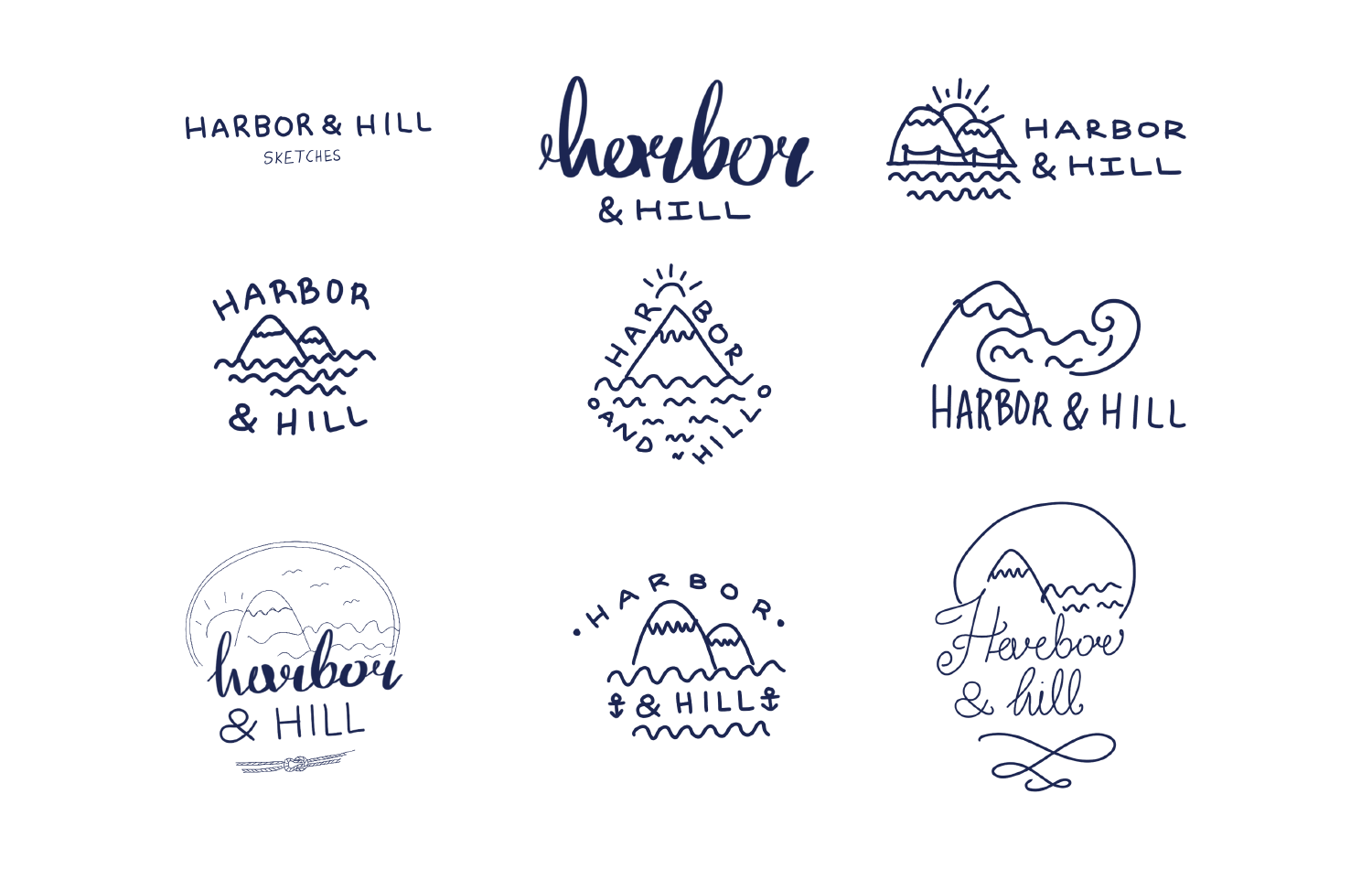 Harbor & Hill sketches
