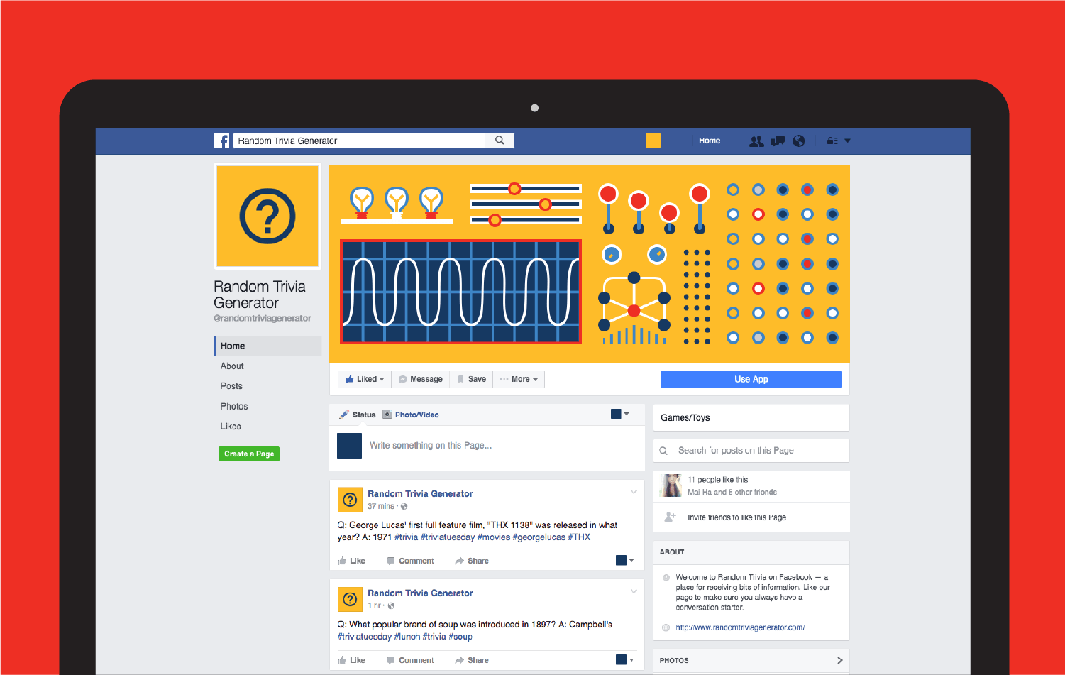 temporary facebook profile page