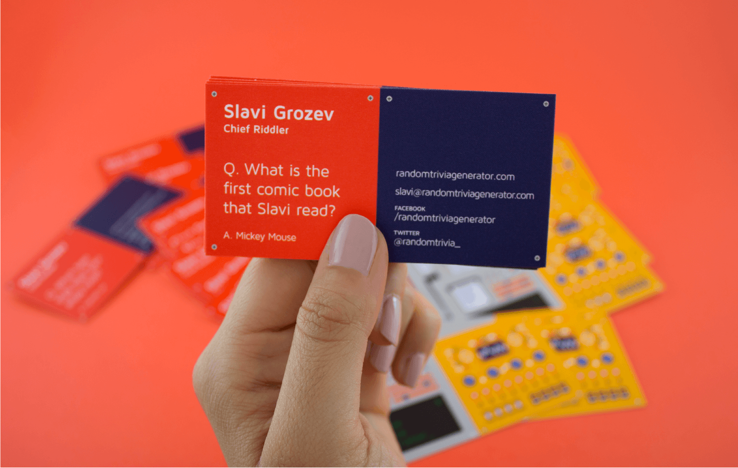 business card trivia