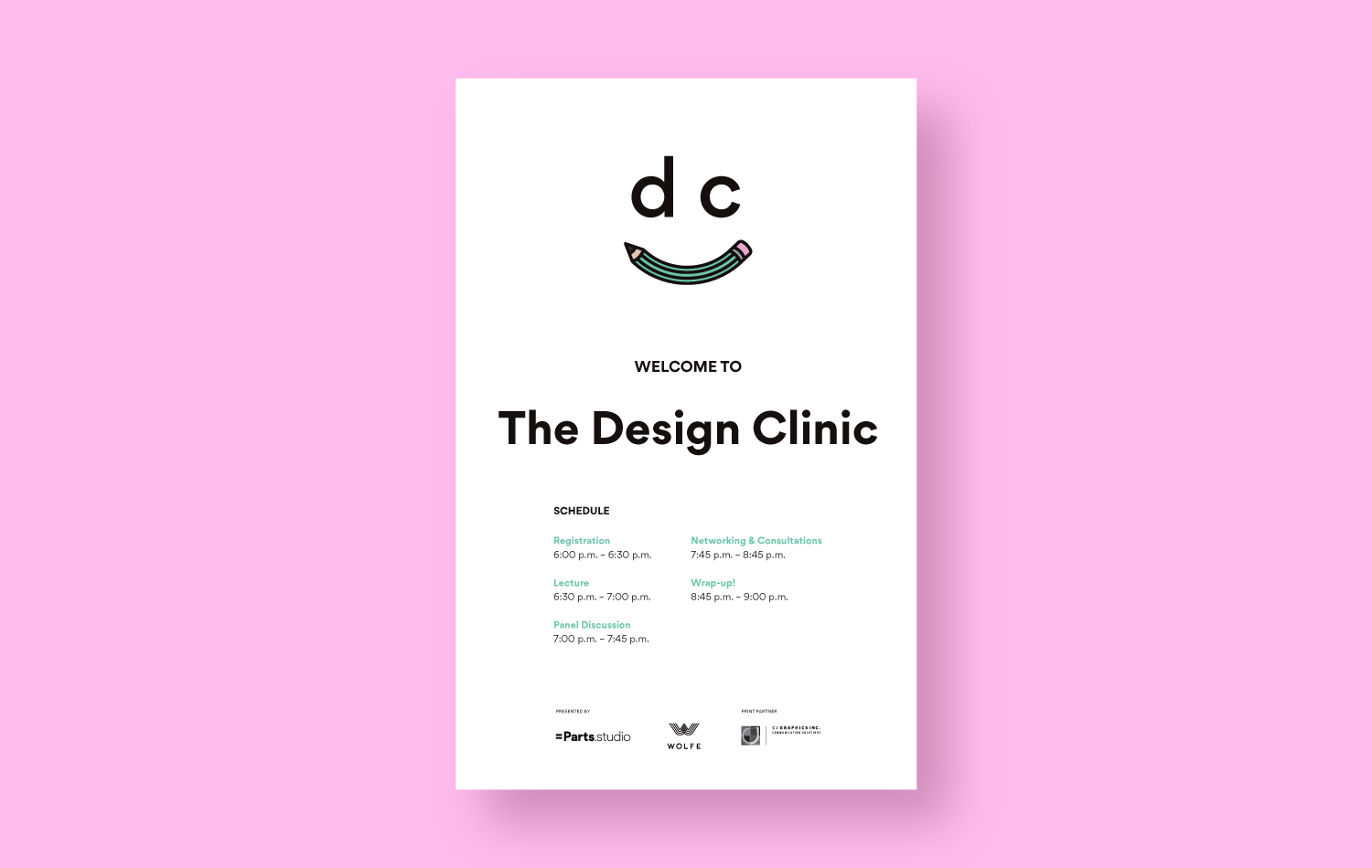 Design Clinic Welcome Sign